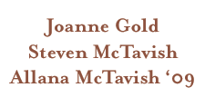 The Gold/McTavish Family